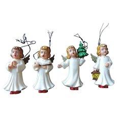 Christmas Angel Ornaments, Set of Four