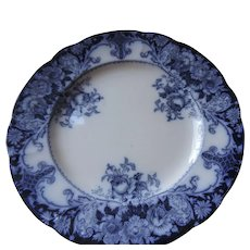 JH Weatherly Belmont Pattern Flow Blue Dinner Plate, 10 1/4""