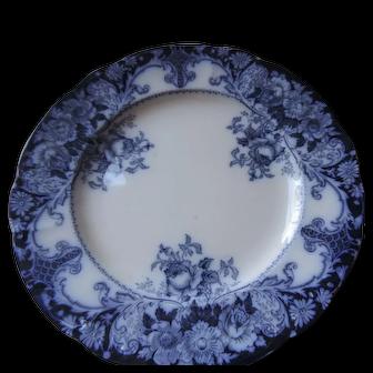 """JH Weatherly Belmont Pattern Flow Blue Dinner Plate, 10 1/4"""""""