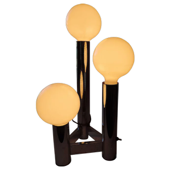 Art Deco Chrome 3 Light Table Lamp