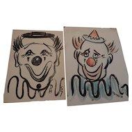 Don Hirleman Clowns, set of 2