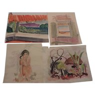 "Don Hirleman Watercolors, Set of 4, 8 1/2"" X 11"""