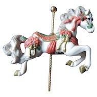 "San Francisco Music Box Co. Rocker Carousel Horse, ""We Wish You A Merry Christmas"""