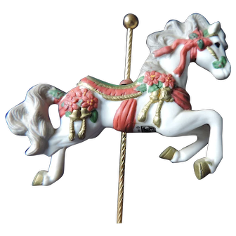 "San Francisco Music Box Co. Rocker Carousel Horse, ""We Wish You A Merry Christmas"""
