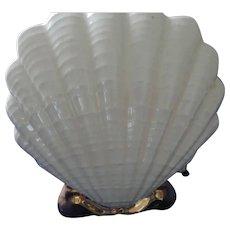 Mid Century Scallop Shell TV Lamp