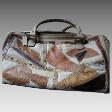 76806c33b50e Vintage Varon Patchwork Snakeskin Purse. Aislinne Antiques