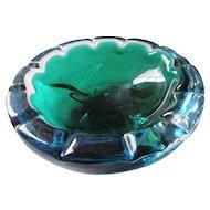Blue, Green Murano Glass Bowl
