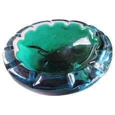 Blue, Green Murano Glass Bowl