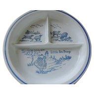 Little Bo Peep Baby Dish, Blue and White, Vitrock