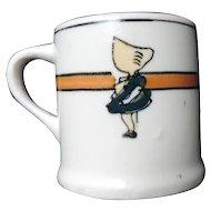 Roseville Child's Mug, Sunbonnet Girl