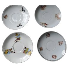 Group of 4 Baby Dish, Saucers