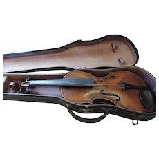 Vintage Hopf Violin, Original Case, Needs Restoration