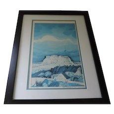 """Baje Whitethorne, Navajo Artist, """"Mystic Valley"""", Signed, Numbered Print"""