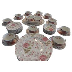 Johnson Bros Rose Chintz China, 52 Pieces