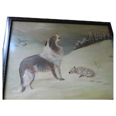 """Found/Shepherd's Call"" Oil Painting, Framed, 20"" X 26"""