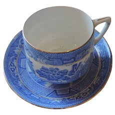 Royal Grafton Bone China Light Blue Willow Cup and Saucer