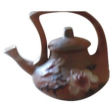 Roseville Magnolia, Brown Tea Pot