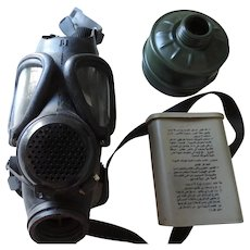 Operation Desert Storm US Gas Mask in Shoulder Pouch