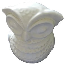 American Bisque White Owl Cookie Jar