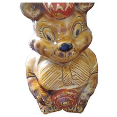 Brown Bear Holding Cookie, Cookie Jar, Japan