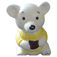 White Teddy Bear Cookie Jar by Marcia