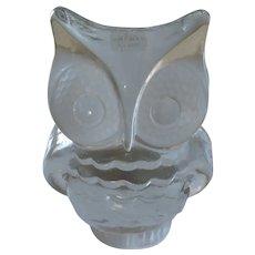 "Viking Satin Glass Owl, 6 1/2"""