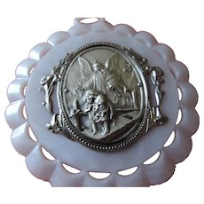 Vintage Crib Medal, Guardian Angel, Italy