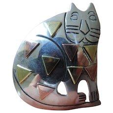 El Gato Gordo, The Fat Cat, Taxco Pin/Pendant