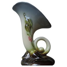 "Hull Woodland Pattern Cornucopia Vase, W-2,  5 1/2"""