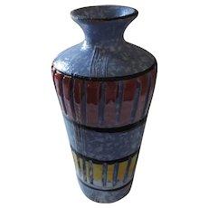 Handmade Mid Century Modernist Pottery Vase, Kreiss, Italy