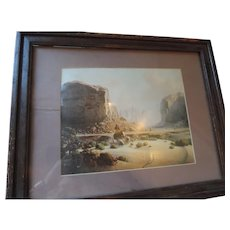 """Dalhart Windberg Print, Navajo Shepherd, 8"""" X 10"""", in 12"""" X 16"""" Frame"""