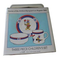1984 Olympics Childs Dish Set by Papel