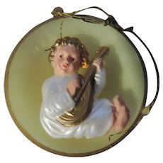 Baby Jesus Playing Lyre Christmas Tree Ornaments, Set of 6