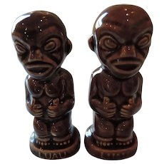 Vintage Hawaiian Luau Tiki Salt and Pepper Shakers