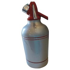 "Sypholux Mid Century Syphon Seltzer Bottle, 11 3/4"""