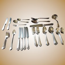 "Gorham ""Shelburne"" Silver Plated Flatware, 64 Pieces"