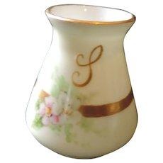 Bavaria Porcelain Hand Painted Toothpick Holder