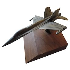Sparta Pewter Jet Airplane Paperweight