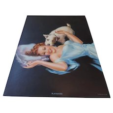 """PLAYMATES  Pin up, Pearl Frush, Red Head and Puppy, 6"""" X 8"""""""