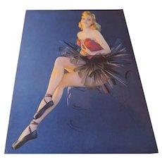 Twinketoes, Art Deco style Pin Up Print, Jules Erbit