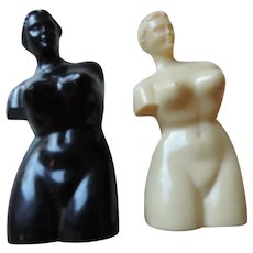 Plastic Venus Di Milo Female Torso Salt and Pepper Shakers