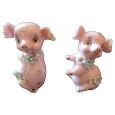 Fancy Pigs Salt and Pepper Shakers