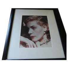 "Lauren Bacall Autographed Color Photo from  ""The Big Sleep"", Matted and Framed, 14"" X 16 1/2"""