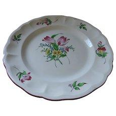 "Luneville Old Strasburgh Faience Pottery Platter, 13 1/2"""