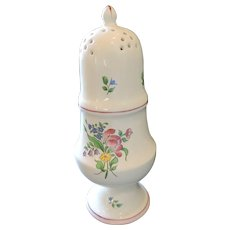 Luneville Old Strasbourg Faience Pottery, Muffineer/Sugar Shaker