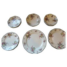 Royal Doulton Old Leeds Spray Dishes, 22 Pieces