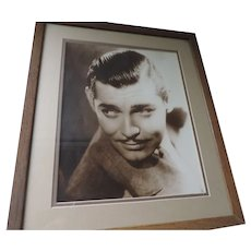 "Clark Gable Studio Photograph, 11"" X 14"", Matted and Framed, 16"" X 20"""