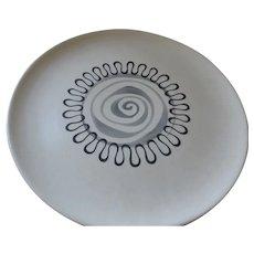 """Metlox Poppytrail Aztec Pattern Round Platter, 13 1/4"""""""