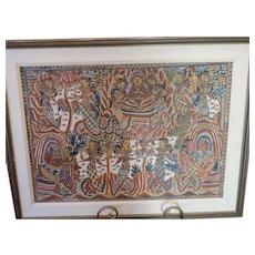 "Vintage Indonesian Batik, 21 1/2"" 31"","