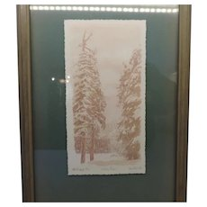 "F.W. Hasper, ""Winter Pines"", Limited Edition Print"
